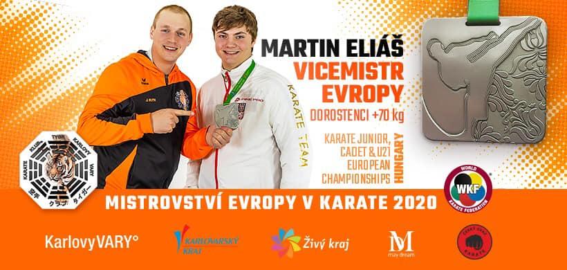 Martin Eliáš vicemistrem Evropy 2020